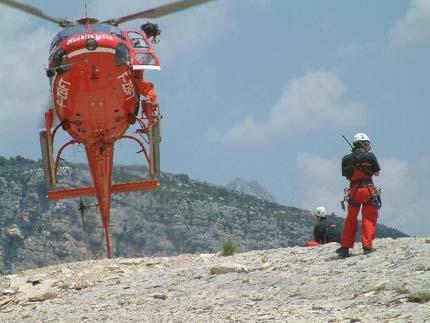 Mountain Rescue at France Gorges du Verdon