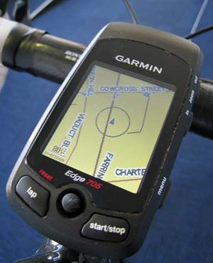 Garmin Edge 705 handheld cycling gps