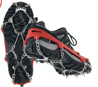 Kahtoola Microspikes traction harness for shoes / boots