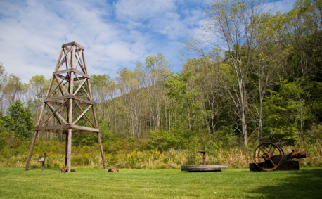 Oil Creek State Park in Western Pennsylvania -  wooden oil tower