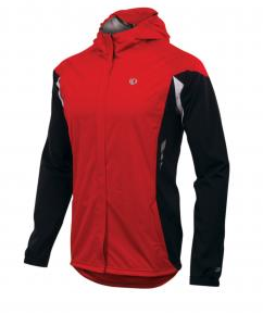 Pearl Izumi Fly Barrier WXB jacket red white black front view