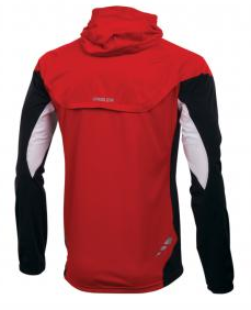 Pearl Izumi Fly Barrier WXB jacket red white black back view