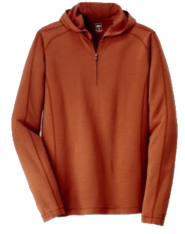 REI Merino Wool hoodie orange mens