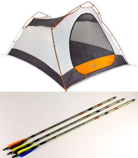 Replacing tent poles with aluminum arrows