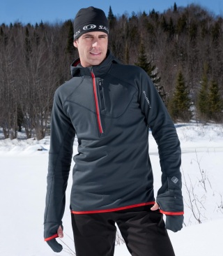 Salomon swift mid-layer hoodie