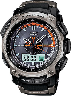 Casio technical outdoor watch - PAW-5000 -barometer, compass, altimeter, solar charge