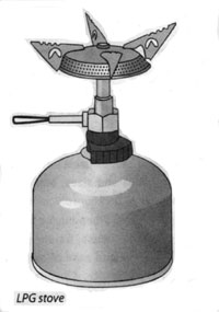 picture of a generic liquid propane gas camping stove