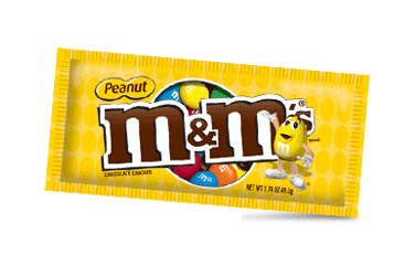 m and m peanut chocolate candies