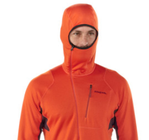 Patagonia-R1-hoody-polartec-fleece-shirt-orange-hood-up_GetOutdoorGear.com_